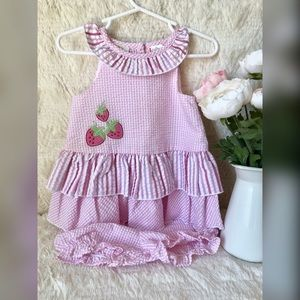 Other - Little Bitty strawberry dress. Size 12 months